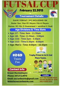 SB4U Futsal Cup Flyer 2015