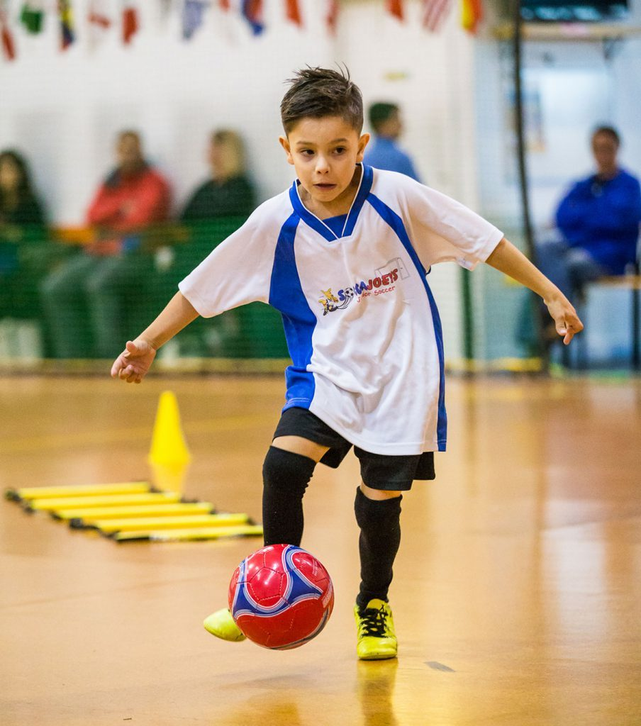winter soccer camp ball mastery