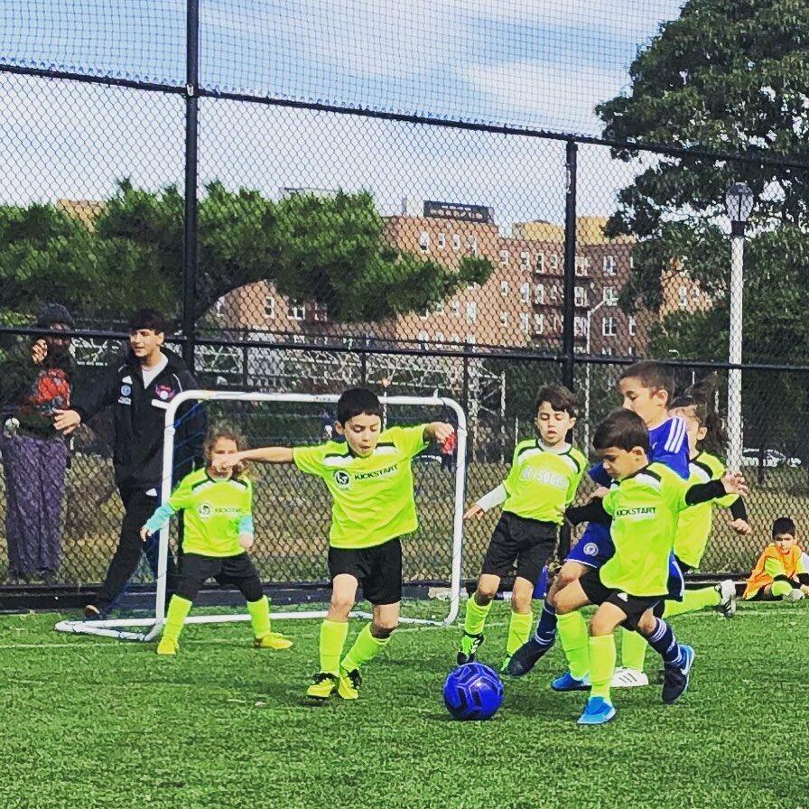 recreational soccer practice
