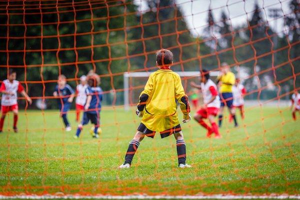 recreational soccer game