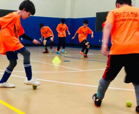 indoor soccer tennis training